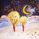 Новогодний мастер класс по правополушарному рисованию