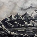 Горы в черном цвете